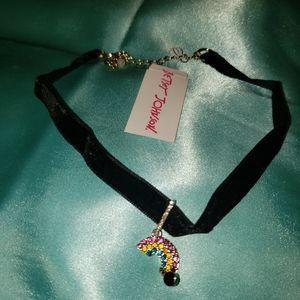 Betsey JOHNSON Rainbow Choker Necklace
